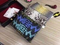 100% genuine python snake skin women clutch wallets purse long, snake skin wallets women clutch big size beige envelop clutch