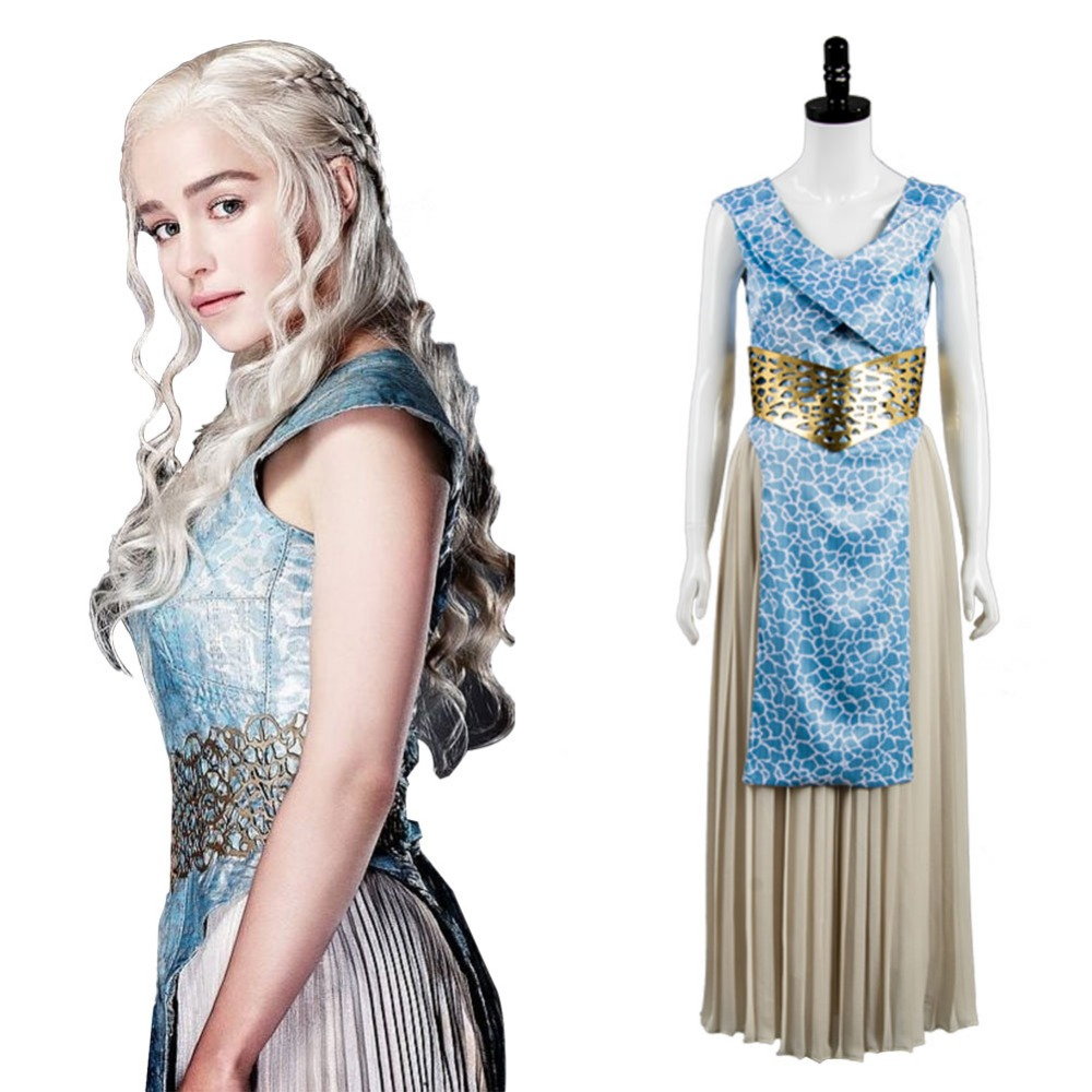 GOT Game of Thrones Daenerys Targaryen Dany Dress Cosplay Costume Halloween Carnival Dresses