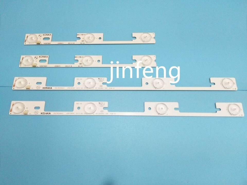 Ambitious New 100 Pcs 50*3led*6v+50*4led*6v Led Backlight Strip For Kdl32mt626u 35019055 35019056 To Make One Feel At Ease And Energetic
