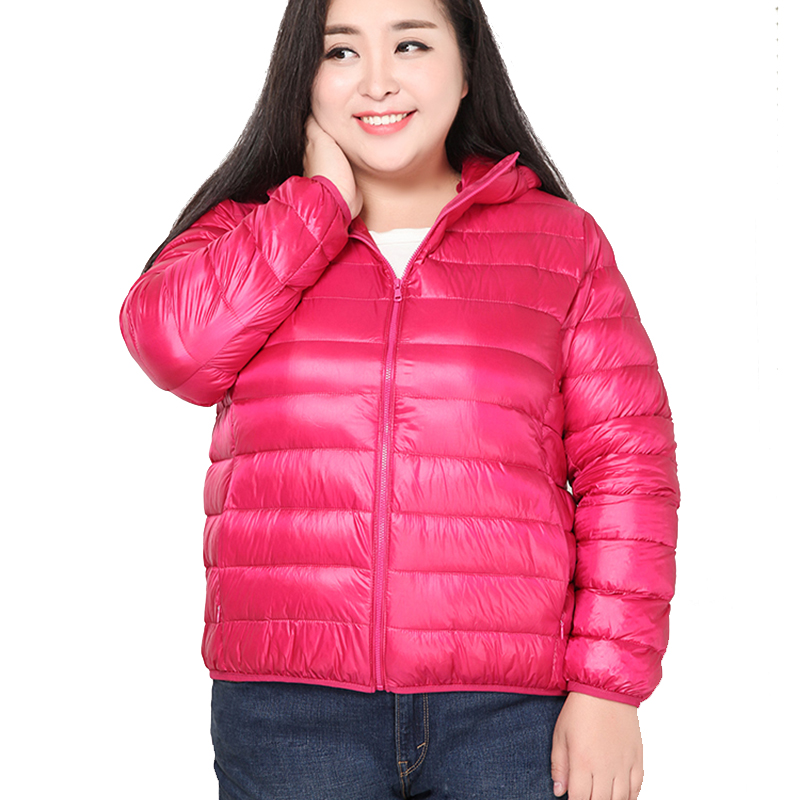 Super Big Obese Women Plus Size 6XL Padded Coat Ultra Keep Warm  Jacket Overcoat Solid Jackets Winter Coats Portable