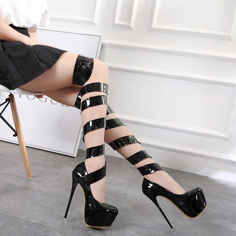 La Cheville Cm Femmes Dames Sexy Bride Parti Plate À forme Pompes Yma404 16 Noir Haute Pour Talons Chaussures b6vfyY7g