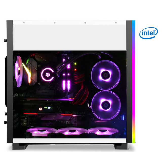 Kotin S11-1 Intel Core i7 8700K Gaming PC 240mm Water Cooler RTX2070 256GB SSD 1TB HDD 16GB RAM RGB Fans Gaming Desktop 650W PSU 1