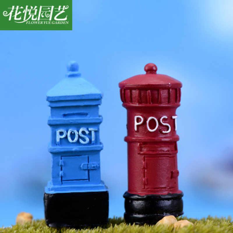 Buzón de correos ZOCDOU 1 pieza Nostalgia, caja de correos, postal, Europa, Polonia, pequeña estatua, figura de artesanía, ornamento, decoración en miniatura