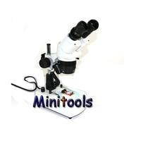 Mini 20x 40x Stereo binocular Microscope with Halogen Bottom lamp light for industrial microscope repair