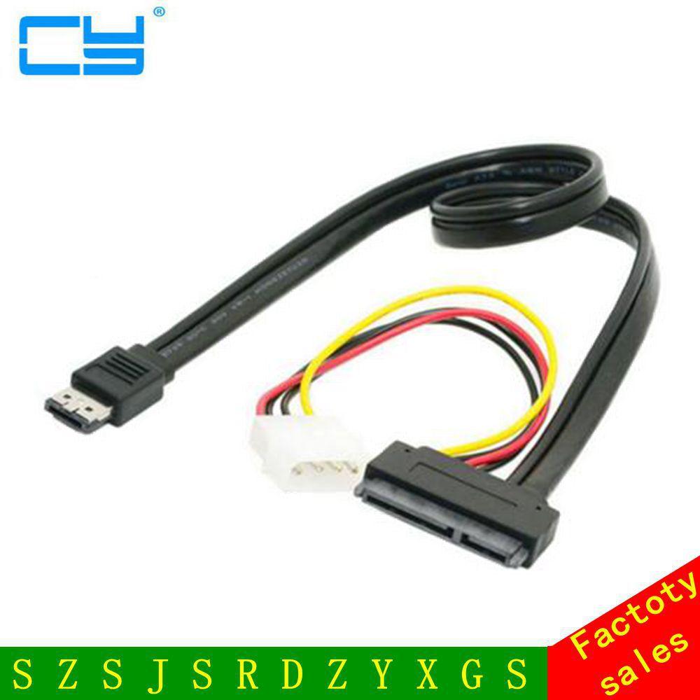 eSATA Power ESATA Combo to SATA 22pin & IDE 4pin 5V 12V cable adapter for 3.5 2.5 Hard Disk Data Cable 0.5M
