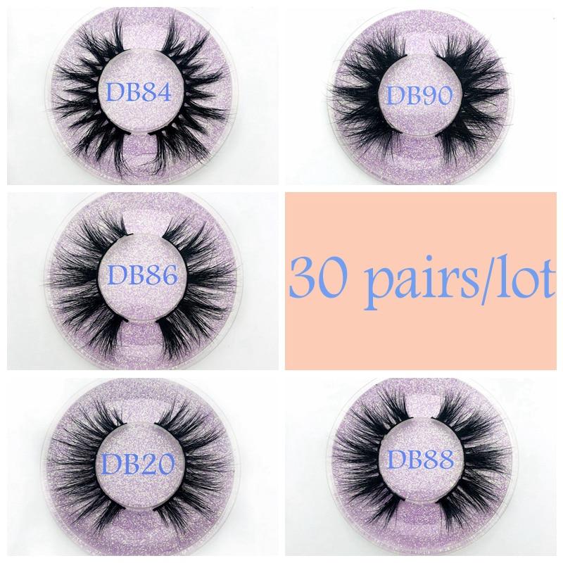 Hot selling Wholesale 30 pairs Eyelashes 3D Mink Lashes Handmade Dramatic Lashes cruelty free custom logo
