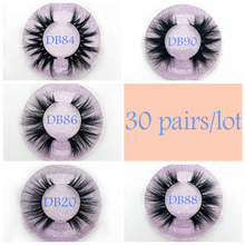 Hot selling Wholesale 30 pairs Eyelashes 3D Mink Lashes Handmade Dramatic Lashes cruelty free custom logo lashes