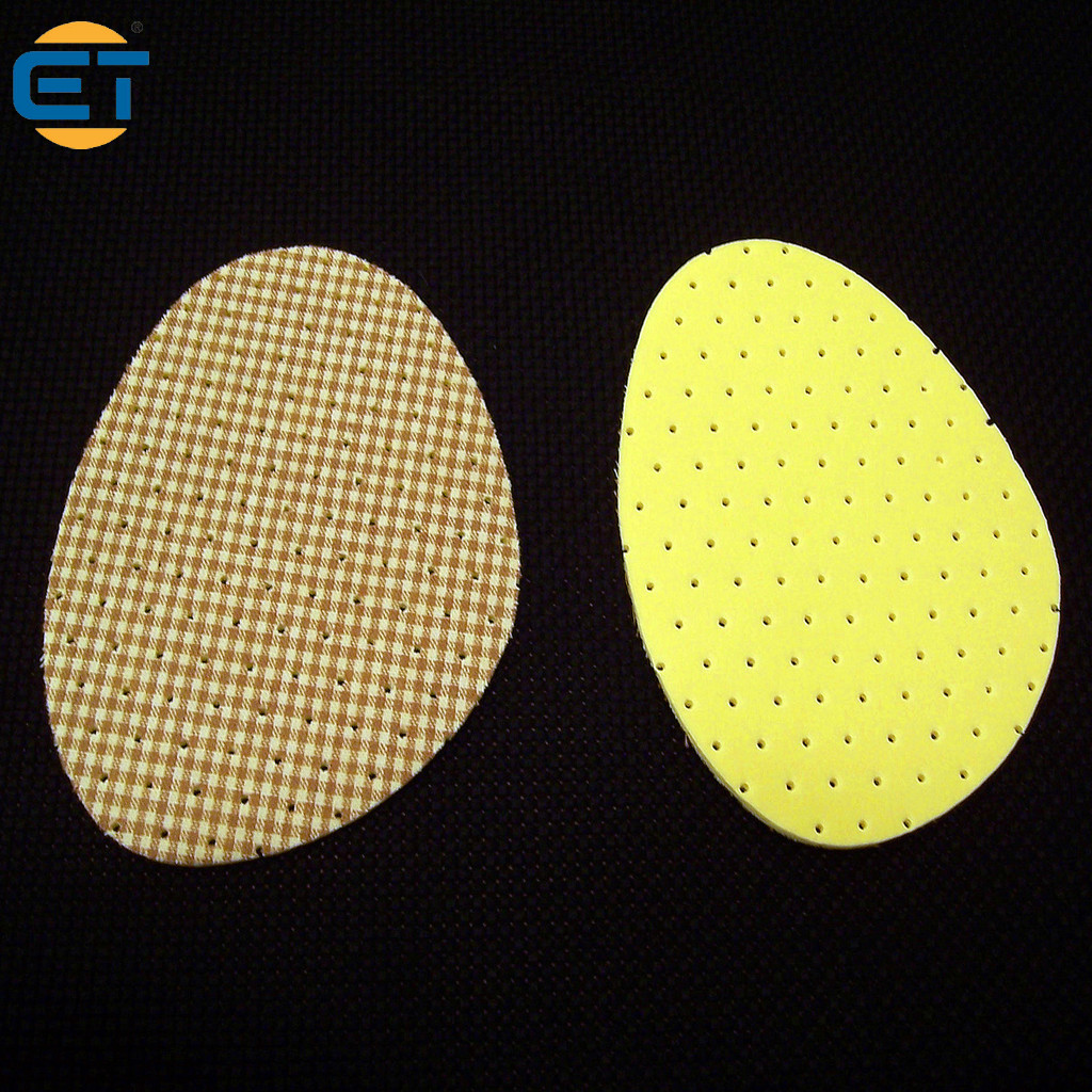 Wholessale 10pairs/lot Yellow Grid Cloth Half Code Pad Semi Cushioned Silicone Insoles Massage Foot Care