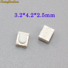 ChengHaoRan 20pcs Micro Push Button 3X4X2.5 4feet (U type) SMT Tact Switch Mounting For Car System/Cigarette Tool