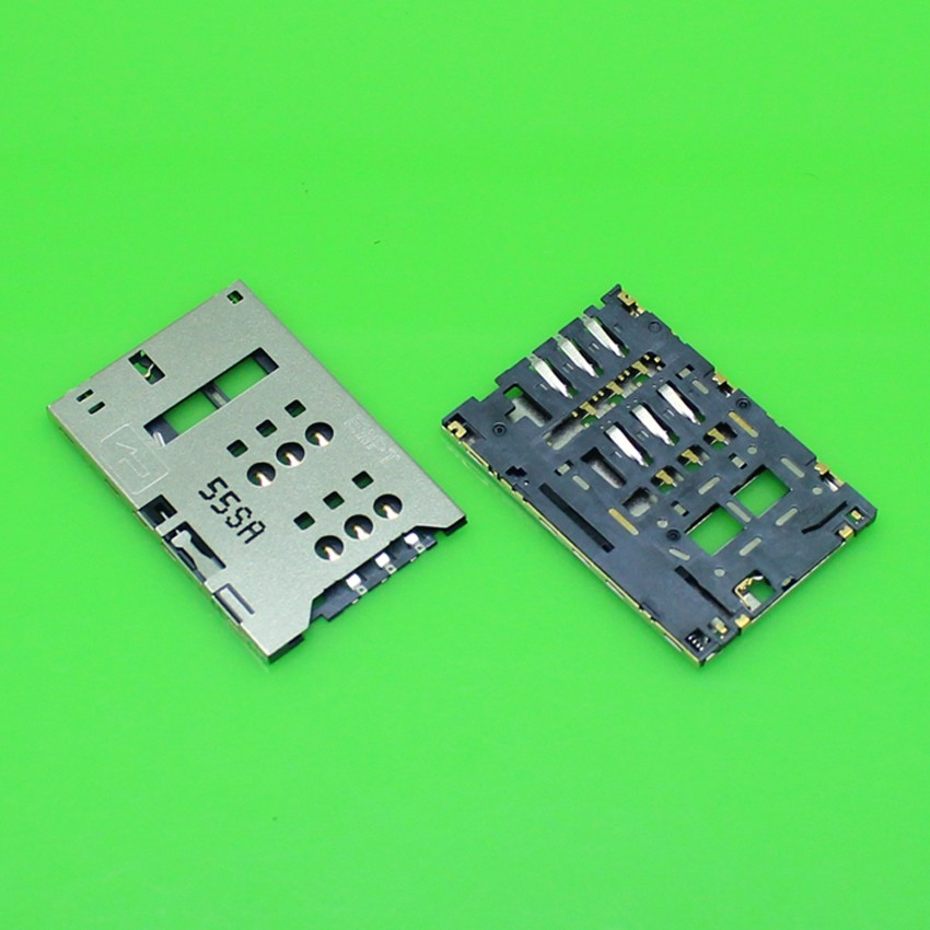 2pcs/lot 100% New SIM card Socket reader Tray Holder Slot repair Replacement for Huawei E5776 E5776S E589U high quality
