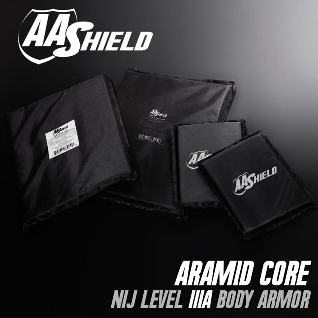 AA Painel Escudo À Prova de Bala Soft Body Armor Placa Inserções aramida Núcleo Self Defense Abastecimento Lvl IIIA NIJ 3A 11X14 (2) 5X8 (2) Kit
