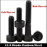 M16 M16 * 90/100/110/120 M16x90/100/110/120 12 9 Grade Carbon Stahl Volle gewinde DIN912 Cap Allen Kopf Bolzen Hexagon Buchse Schraube