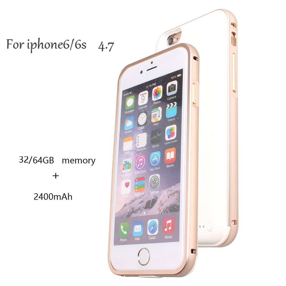 LUOOV LPDISK New Extra Battery Charging Charger Case with 64G 32G Memory Phone Card for iPhone 6/6s,with 2400mAh Capacity|case case|case with batterycase new - AliExpress