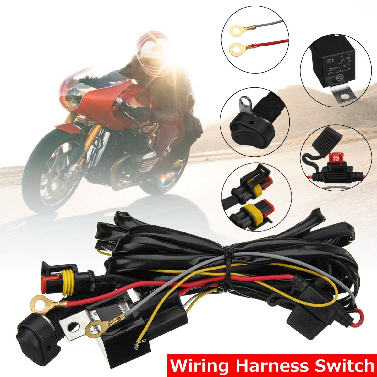 Bmw R1200gs Wiring Harness Diagrams Data Base Jvc Car Stereo Power Plug Motorcycle Led Fog Lights Switch On Off 40a For Rh Aliexpress Com