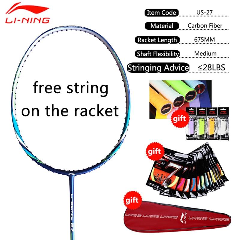 Li-Ning 85g Original Professional A800 High Quality Carbon Fabric Badminton Rackets LiNing Single Sports Racket String EAMJ17