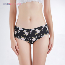 COLORIENTED Factory Price Plus Size Panties for Women Sexy Floral Seamless Briefs Female Soft Super Thin Comfortable Breathable