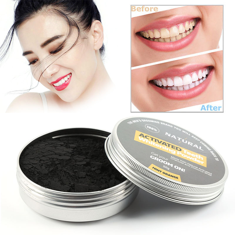 Fresh Picked Beauty Radiant Skin Activated Charcoal: Teeth Whitening Powder Remove Smoke Coffee Tea Stain