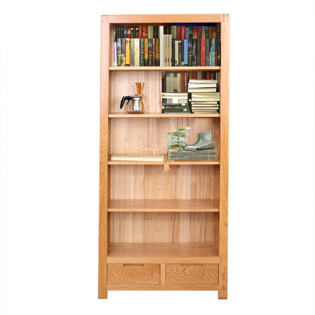 Bookcases Living Room Furniture Home Oak Solid Wood Bookshelf Storage Rack High End Display Cabinet 82321175cm New In From