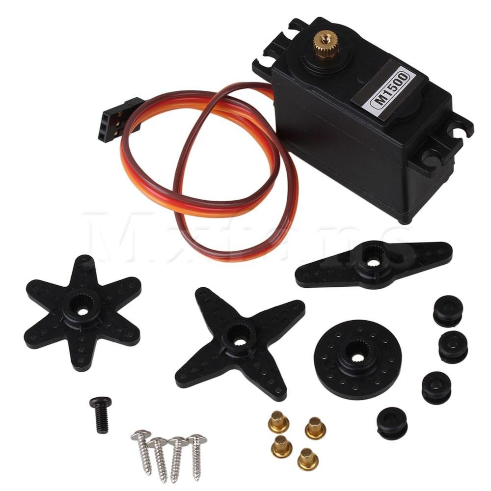 Mxfans Black 15KG Plastic Metal N10031 Gear Servo for RC 1:10 1:8 Model Car Truck Buggy