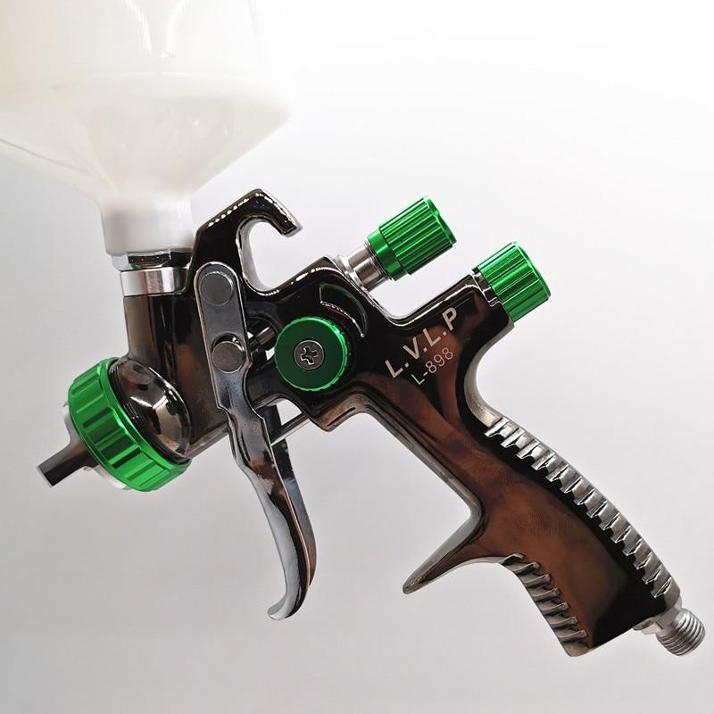 Lvlp Wholesale  Paint Spray Gun 1.3mm High Atomizing Sprayer  Gun L 898  Sprayer  Mini Air Paint Spray  Airbrush Car Paint Gun