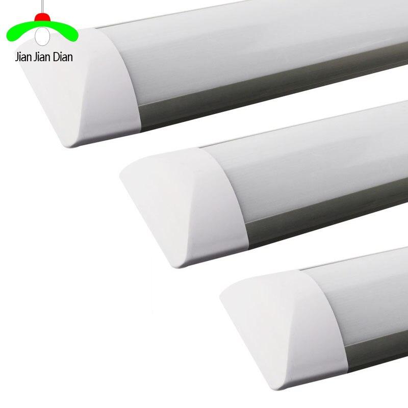 """Lampe tube Fluorescent, Tube en LED 18W 2Ft 24 """"10 W 1.1Ft 14"""", barre lumineuse linéaire, tube Fluorescent 36 cm, 60 cm, blanc froid, 110V 220V"""