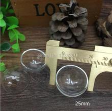 Wholesale 30pcss/lot 25mm half glass globe bubble ,glass dome , glass bottle , glass vial pendant