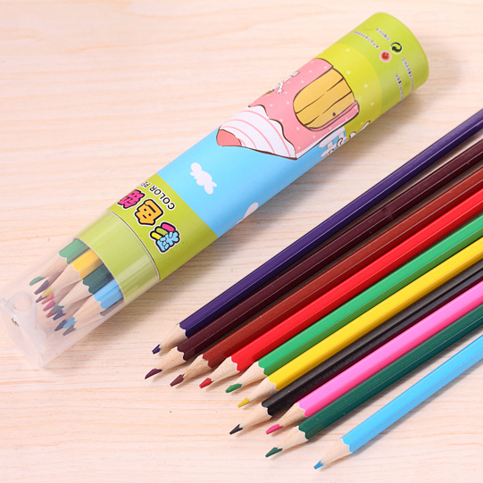 Big Sale¼Drawing Art-Pencils Wooden Colored Cute Cartoon Creative 12/24-color/Bottle
