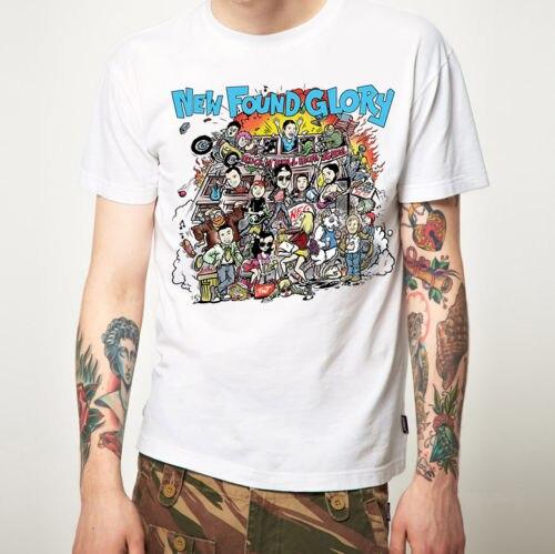 Printed T Shirt Clothes Crew Neck Short-Sleeve Gift Mens New Found Glory T Shirt New Merchandise Pop Punk Shirts