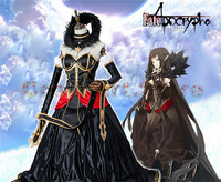 [Stock]2018 Hot Game Fate Grand Order FGO Apocrypha of Red Semiramis Sammu ramat Cosplay Halloween Black Ball Gown Dress Free S