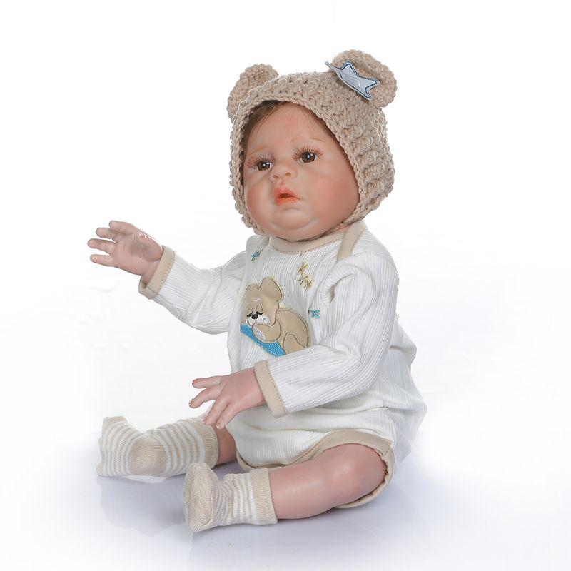48cm Realistic Reborn Doll Soft Full Silicone Vinyl Newborn Babies Boy Lifelike Handmade Toy Children Birthday Gifts48cm Realistic Reborn Doll Soft Full Silicone Vinyl Newborn Babies Boy Lifelike Handmade Toy Children Birthday Gifts