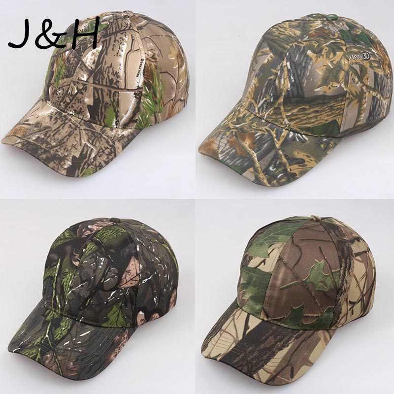 Men Military Peaked Camouflage Cap Cotton Hiking Fishing Camo Baseball Cap