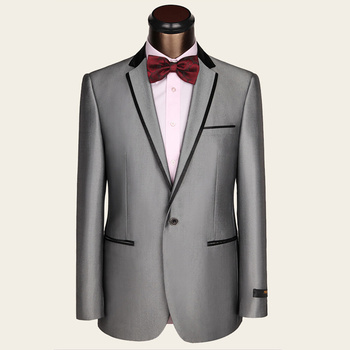 Latest Coat Pant Designs Terno Slim Fit Formal Wear Groom Men Wedding Suit Silver Gray Prom mens Suits Brand Casaco Masculino