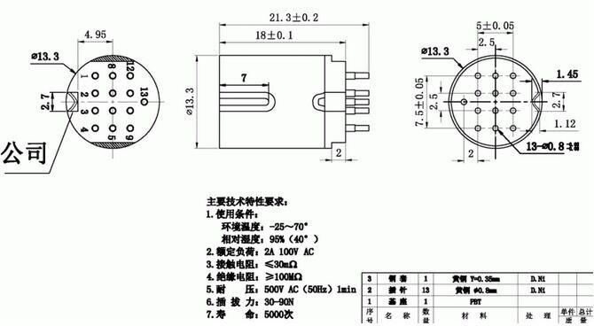 Din Socket 13 Pin S Male Inline Din 13 07f S Plug Socket