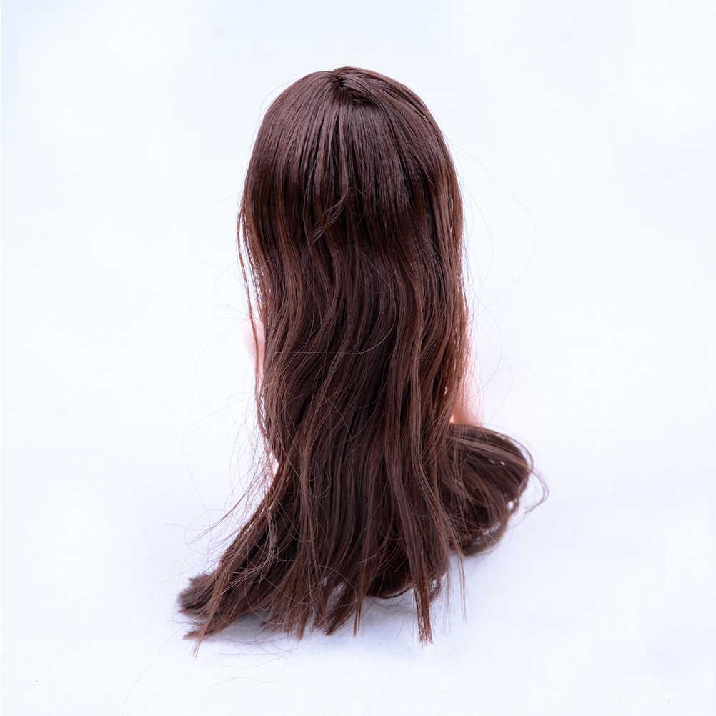 Высококачественная детская игрушка голова куклы с черным коричневым аксессуары для волос своими руками для куклы девушки для 1/6 BJD Кукольный дом