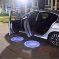 INSIGNIA del coche Luz de Cortesía Puerta Del Coche Bienvenido Sombra del Fantasma Logo Emblemas Personalizados lámpara PARA VW Passat Variant (B8) Golf 5 6 7 Sagitar