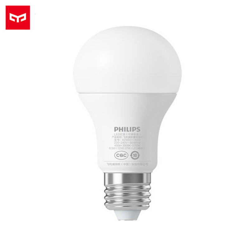 Original Xiaomi Smart Bulb White LED E27 6.5W 450lm Mi Light Mijia Lamp APP WiFi Light Remote Control With Mi Home App Phones original xiaomi yeelight led smart bulb colorful e27 9w 600 lumens mijia light xiaomi smart phone wifi remote control