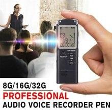 Портативный цифровой диктофон Голосовая активация цифровой звук аудио рекордер Запись Диктофон MP3-плеер