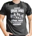 Camp Upside Down Stranger Things T-shirt -   man t shirt