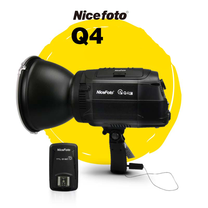 NiceFoto HS Q4C  400W  HSS 1/8000S Studio Flash Outdoor Flash High Speed Speedlite with Transmitter for Canon CameraNiceFoto HS Q4C  400W  HSS 1/8000S Studio Flash Outdoor Flash High Speed Speedlite with Transmitter for Canon Camera