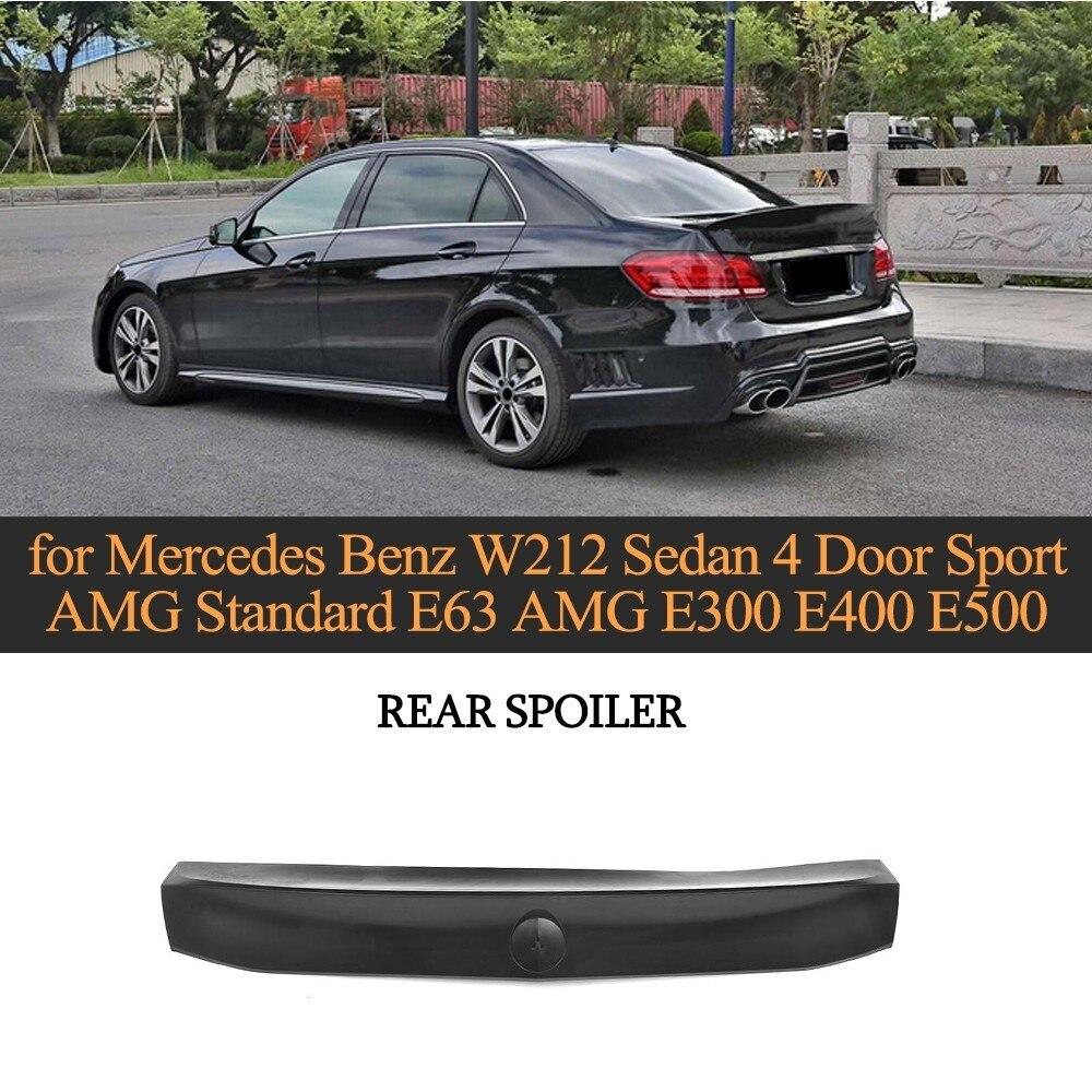 Mercedes Benz E550 Amg: Carbon Fiber Car Rear Trunk Spoiler Boot Lip For Mercedes