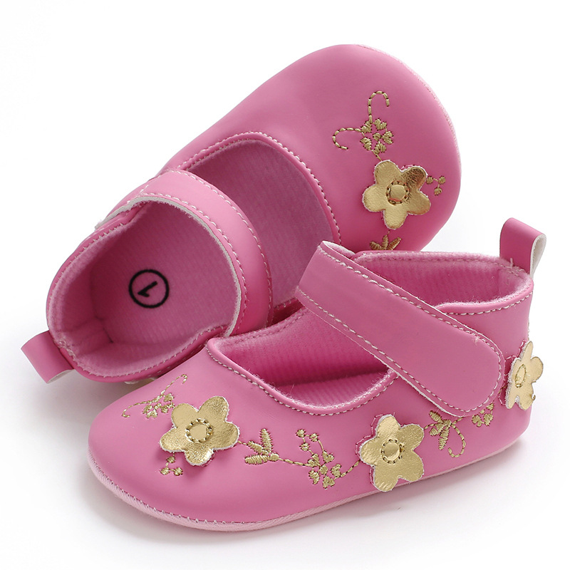 Raise Young Spring Autumn Baby Girl First Walkers Cotton Embroidery Flower Infant Girl Shoes Toddler Newborn Crib Shoes