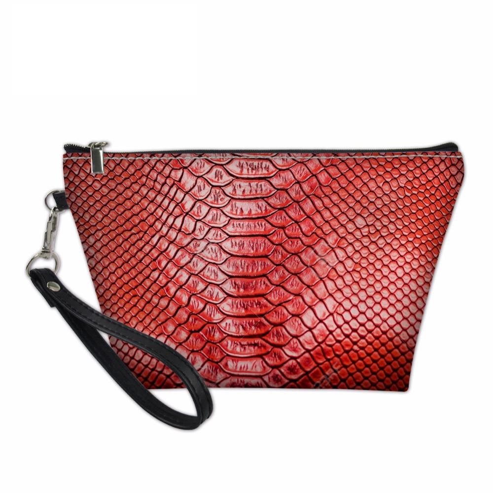 NOISYDESIGNS 3D Alligator Print Cosmetic Bag Ladies Makeup Bag Travel Organizers Bags for Women Girls Make Up Case Toiletry Bag