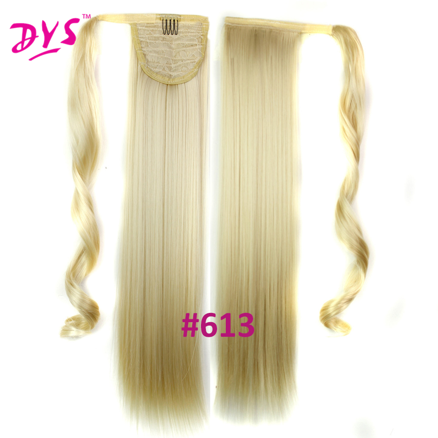 Deyngs 60cm Long Straight Clip In Hair Tail False Hair Ponytail Hairpiece With Hairpins Synthetic Hair Pony Tail Hair Extensions (21)