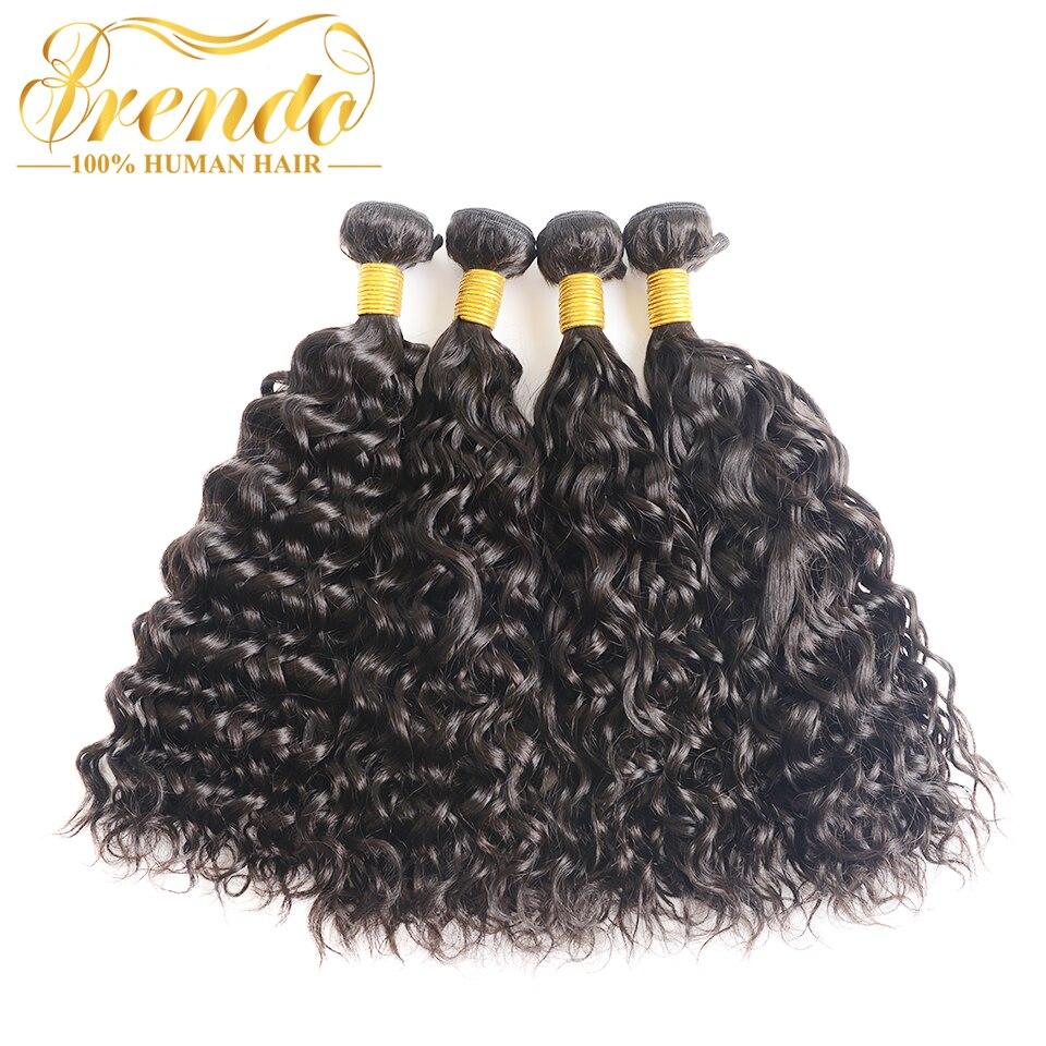 Brazilian Hair 4 Bundles Human Hair Water Wave Thick Hair Weave Bundles Double Wefts 8 30