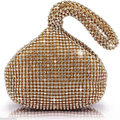 2017 women luxury diamond evening bag Gold day clutch silver prom wrist bag bolsa feminina bridal party dress handbag purse