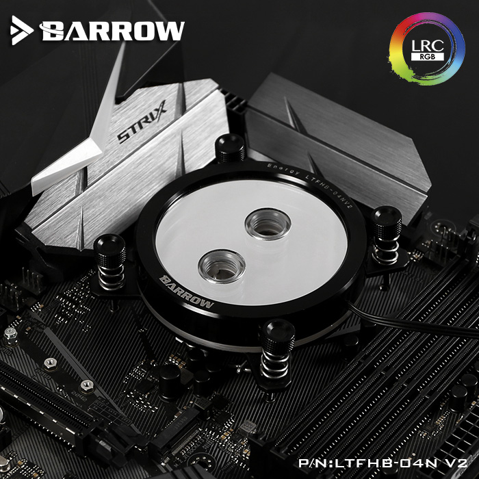 Barrow LTFHB-04N V2 RGB LRC2.0 CPU Water Cooling Block for Intel 115x цена