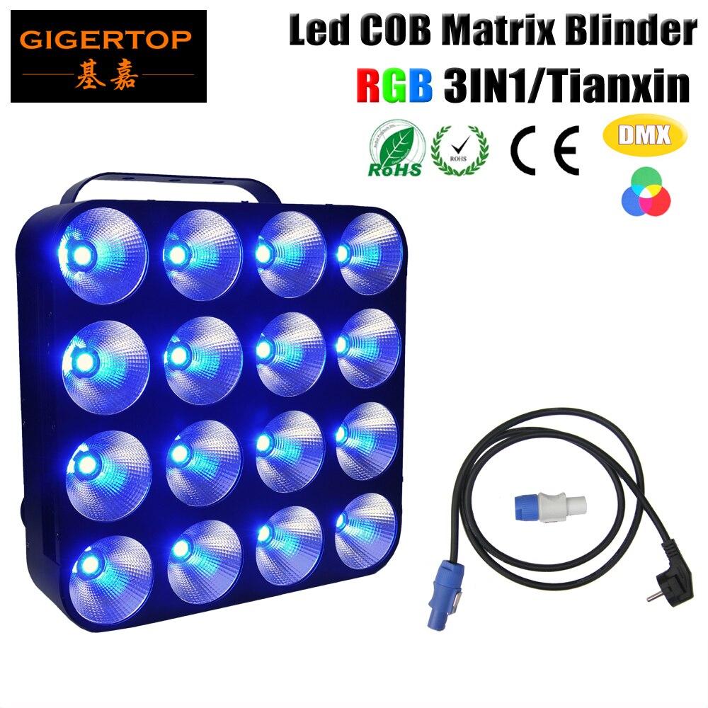 free shipping 16 heads led matrix light 16x30w rgb 3in1 tri color cob dmx led matrix bliner. Black Bedroom Furniture Sets. Home Design Ideas