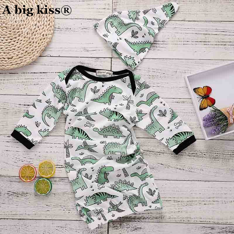 Helpful 2018 Hot Sale 2pcs Newborn Sleepwear Robes Infant Baby Girls Boy Cartoon Dinosaur Pajamas Gown Swaddle Outfits Crease-Resistance Blanket Sleepers
