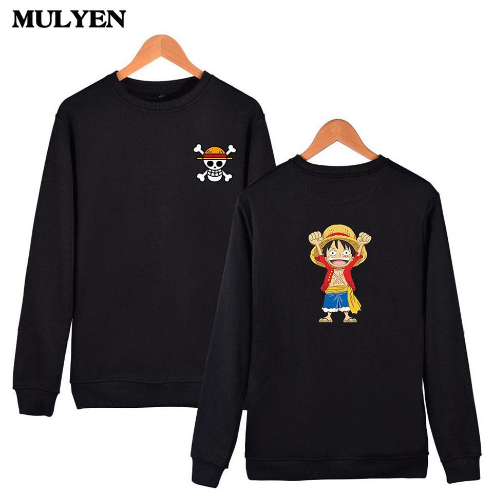 Hot Fashion 2017 Summer & Autumn One Piece Luffy Design Capless Sweatshirt High Quality Hoodies Men Hip Hop Moleton Masculino