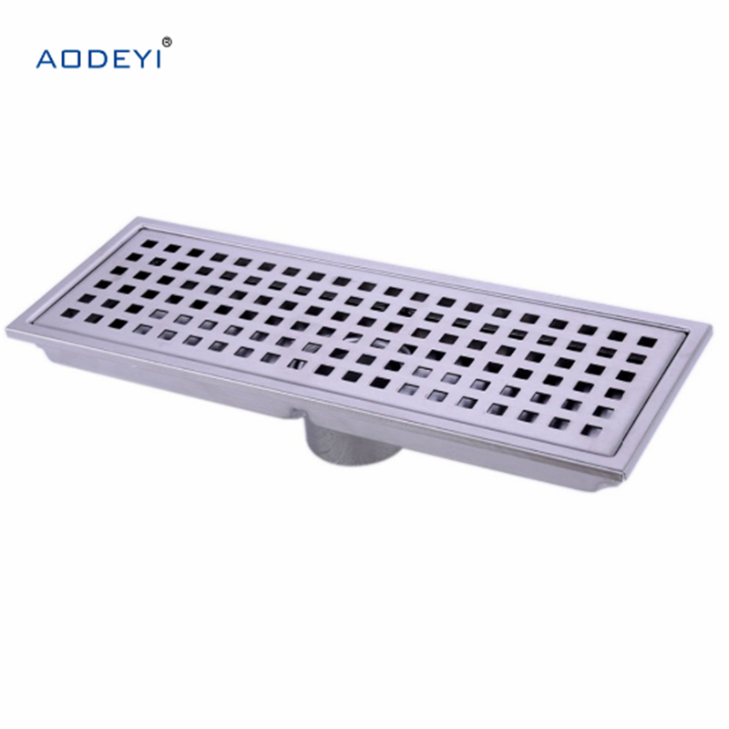 304 solid stainless steel 300 x 110mm square Linear floor drain bathroom invisible shower floor drain 304 solid stainless steel 300 x 110mm square anti odor floor drain bathroom invisible shower drain